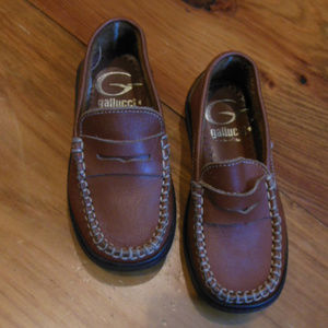 GALLUCCI Italy 25 Brown Leather Loafers 3/$30